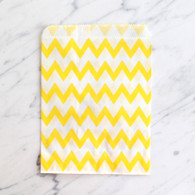 Lemon Yellow Chevron 13x18cm Treat Bags - 6 pack