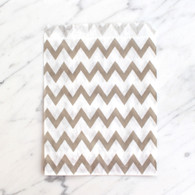 Grey Chevron 13x18cm Treat Bags - 6 pack