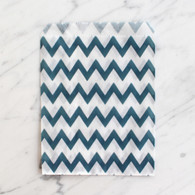 Navy Chevron 13x18cm Treat Bags - 6 pack
