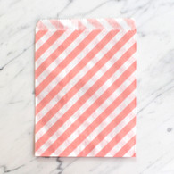 Baby Pink Stripe 13x18cm Treat Bags - 6 pack