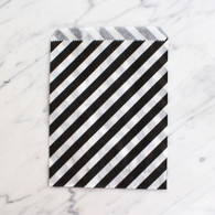 Black Stripe 13x18cm Treat Bags - 6 pack