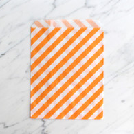 Orange Stripe 13x18cm Treat Bags - 6 pack