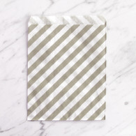 Grey Stripe 13x18cm Treat Bags - 6 pack