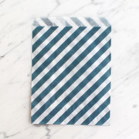 Navy Stripe 13x18cm Treat Bags - 6 pack