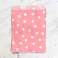 Baby Pink Polka Dot 13x18cm Treat Bags - 6 Pack