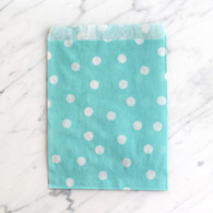 Baby Blue Polka Dot 13x18cm Treat Bags - 6 Pack