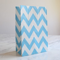 Blue Chevron Stand-Up Treat Bags - Pack of 12