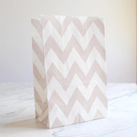 Grey Chevron Stand-Up Treat Bags - Pack of 12