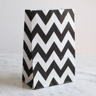Black Chevron Stand-Up Treat Bags - Pack of 12