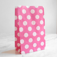 Candy Pink Polka Dot Stand-Up Treat Bags - Pack of 12