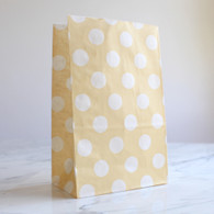 Oatmeal Polka Dot Stand-Up Treat Bags - Pack of 12