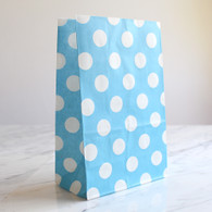 Blue Polka Dot Stand-Up Treat Bags - Pack of 12