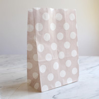 Grey Polka Dot Stand-Up Treat Bags - Pack of 12
