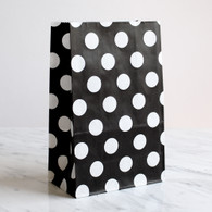 Black Polka Dot Stand-Up Treat Bags - Pack of 12