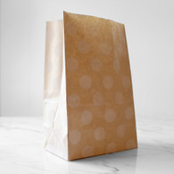 Kraft White Polka Dot Stand-Up Treat Bags - Pack of 12