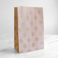 Kraft Brown Polka Dot Stand-Up Treat Bags - Pack of 12