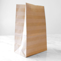 Kraft Stripe Stand-Up Treat Bags - Pack of 12