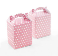 Pink Polka Dot Treat Boxes - Pack of 12