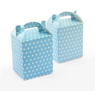 Blue Polka Dot Treat Boxes - Pack of 12