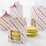 Modern Festive Scalloped Treat Box Kit - Pack of 6