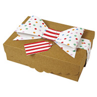 Toot Sweet Cookie Boxes with Ribbon & Tag - Pack of 2