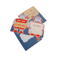 hiPP Little People Invitations, Robot - Pack of 25