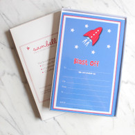 Sambellina Space Rocket Invitations - Pack of 12