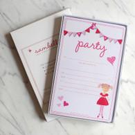 Sambellina Pink Bunting Invitations - Pack of 12