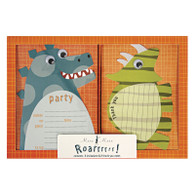 Roarrr! Dinosaurs Invitations & Thank You Cards - 16pk (8each)