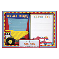 Big Rig Invitations & Thank You Cards - 16pk (8each)