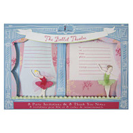 Little Dancers Invitations & Thank You Cards -16pk (8ea)