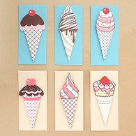 Delicious! Ice Cream Cards - Pack of 6