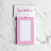 Sambellina Pink Polka Dot Gift Tags - Pack of 12