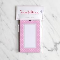 Sambellina Pink Polka Dot Gift Tags - Pack of 12