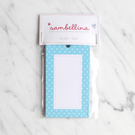Sambellina Blue Polka Dot Gift Tags - Pack of 12