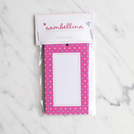 Sambellina Pink Multi Dot Gift Tags - Pack of 12