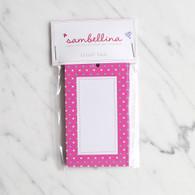 Sambellina Pink Multi Dot Gift Tags - Pack of 12