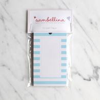 Sambellina Blue Stripe Gift Tags - Pack of 12