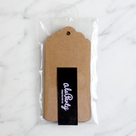 Brown Scalloped Gift Tags 4.5x9.5cm- Pack of 10