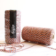 Orange & Black Bakers' Twine 100m Spool
