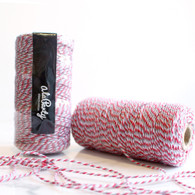 Red & Grey Bakers' Twine 100m Spool