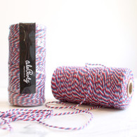 Red & Blue Bakers' Twine 100m Spool