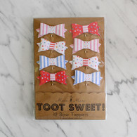 Meri Meri Toot Sweet Paper Bow Embellishment - 8pk