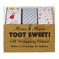 Meri Meri Toot Sweet Ribbons - Pack of 3