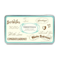 Cavallini & Co Greetings Stamp Set - 10 Stamps & Ink Pad