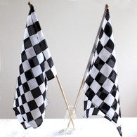 Black & White Checker Flags, 60cm long - Pack of 2
