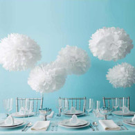 Martha Stewart Doily Lace White Pom Pom Set - 5 pack