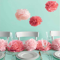 Martha Stewart Medium Pink Pom Pom Set - 8pk