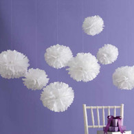 Martha Stewart Medium White Pom Pom Set - 8pk