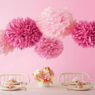 Martha Stewart Pink Pom Pom Set - Pack of 5